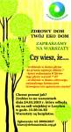 Zaproszenie na warsztaty ekologiczne Loryniec kopia